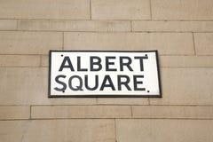 Albert Square Street Sign, Manchester Stock Image