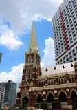 Albert Street Uniting Church in Brisbane. Brisbane is the capital of Queensland and the third largest city in Australia. Brisbane is built along the Brisbane stock photography
