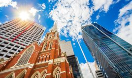 Albert Street Uniting Church Brisbane Australia. Albert Street Uniting Church Brisbane Queensland Australia stock photo