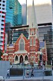 Albert Street Uniting Church, Brisbane. On a walk through the center of Brisbane royalty free stock photos