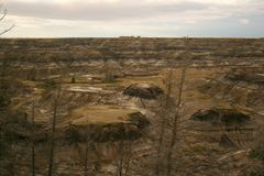 Alberta Badlands. The badlands near Drumheller, Alberta Stock Photo