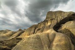 Alberta Badlands Fotografering för Bildbyråer