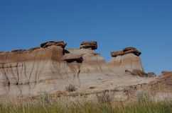 Alberta Badlands And Hoodoos Royaltyfria Foton