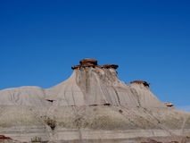 Alberta Badlands And Hoodoos Royaltyfri Fotografi