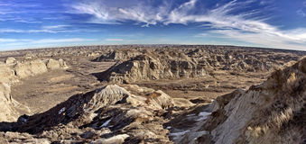 Alberta Badlands Panorama Royaltyfria Bilder