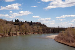 alberta bow river Calgary. n Zdjęcia Stock