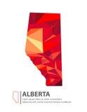 Alberta Canada Map Image libre de droits