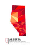Alberta Canada Map. In Low Poly Illustration Royalty Free Stock Image