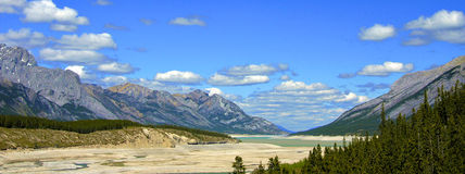 Alberta Canada.Prairie, mountains and lakes. A view of the magnificence of the Rockies, trees, rivers, snow and all so very ancient. Hard to believe that most Stock Photos