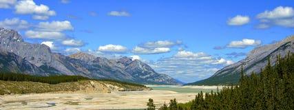 Alberta Canada.Prairie, mountains and lakes. Stock Photos