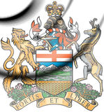Alberta coat of arms, Canada. 3d Rendered Alberta coat of arms, Canada Royalty Free Stock Photography
