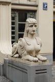 Alberta 2a för fragment för Art Nouveau byggnadsfasad gata Arkivbild