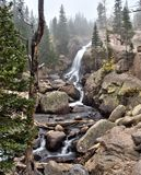 Alberta Falls em Rocky Mountain National Park Foto de Stock