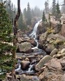Alberta Falls en Rocky Mountain National Park Photo stock