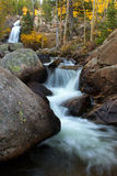 Alberta Falls in Rocky Mountain National Park. During the fall season stock photography