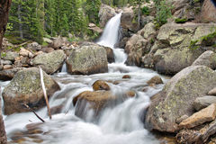 Alberta Falls in Rocky Mountain National Park Royalty Free Stock Photography