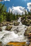 Alberta Falls with snow melt Royalty Free Stock Photography