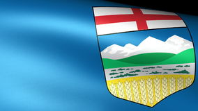 Alberta Flag Waving libre illustration