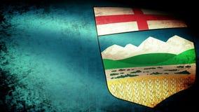 Alberta Flag Waving, grunge stock de ilustración