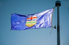 alberta flagi s Fotografia Royalty Free