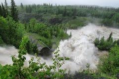 Alberta Flooding 2013. Flooding in June 2013 in alberta, Canada stock photo