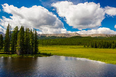 Alberta Foothill Country. Countryside around the lakes and rivers near the Alberta foothils Stock Image