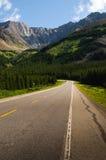 Alberta Foothills. Highway through the Alberta Foothills Royalty Free Stock Photo