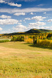 Alberta Foothills. Farm views in the Alberta Foothills stock photo