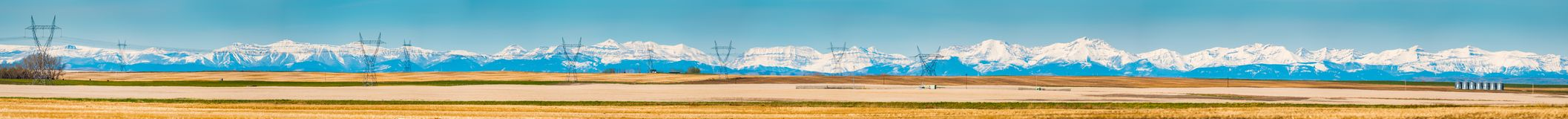 Alberta Foothills and Mountains Stock Photography