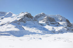 Alberta Icefields. View of mountains and the icefields along the Icefield Highway in Jasper National Park, Alberta Stock Images