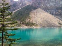 alberta jezioro Banff Canada lokalizować Louise moreny krajowego pobliski parka Obraz Royalty Free