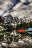 alberta jezioro Banff Canada lokalizować Louise moreny krajowego pobliski parka Zdjęcie Stock