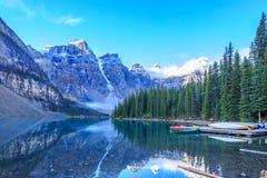 alberta jezioro Banff Canada lokalizować Louise moreny krajowego pobliski parka Zdjęcie Royalty Free