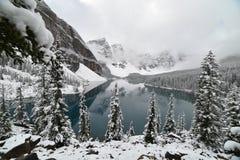 alberta jezioro Banff Canada lokalizować Louise moreny krajowego pobliski parka Obraz Stock