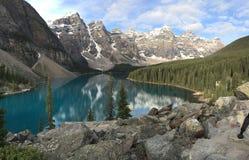 alberta jezioro Banff Canada lokalizować Louise moreny krajowego pobliski parka Fotografia Royalty Free