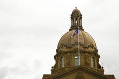 Alberta Legislature. A close up of the dome of the Alberta Legislature Stock Image