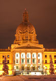 Alberta legislature building at Christmas Stock Photos