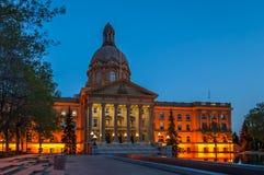 Alberta Legislature. The Alberta Legislature Building in Edmonton, Alberta Canada at sunset Stock Images