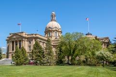 Alberta Legislature Building en Edmonton Imágenes de archivo libres de regalías