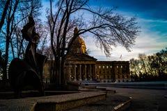 Alberta Legislature Grounds, Edmonton, Alberta, Canada stock foto's