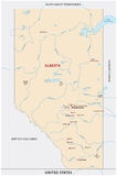 Alberta map. The canadian province map alberta Royalty Free Stock Photos