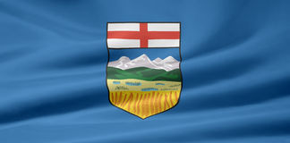 Alberta-Markierungsfahne Stockfotografie