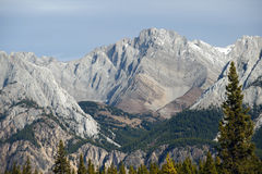 Alberta - Mist Mountains, Canadian Rockies royalty free stock photo