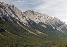 Alberta - Mist Mountains, Canadian Rockies stock images