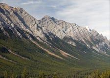 Alberta - montagne della foschia, Montagne Rocciose canadesi Immagini Stock