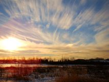 Alberta niebo Obrazy Stock