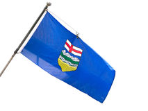 Alberta Provincial Flag Images stock