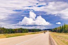Alberta Provincial Highway No 43 Fotografering för Bildbyråer