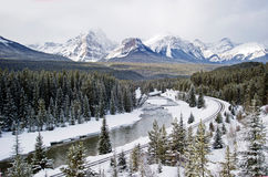 Alberta. Road trip beautiful rocky mountains Royalty Free Stock Image