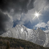 Alberta, Rocky Mountains royalty free stock photography
